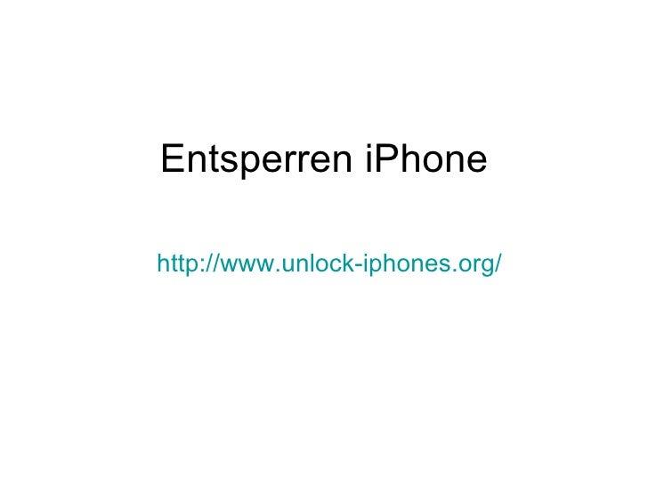 Entsperren iPhone http://www.unlock-iphones.org /
