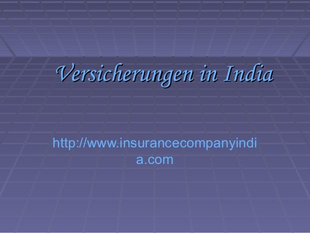 Versicherungen in India
