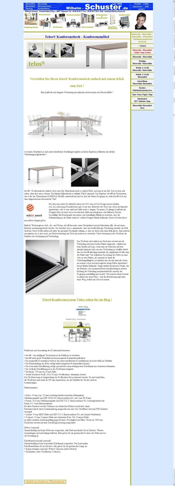 Konferenzmöbel, Telos Konferenztisch