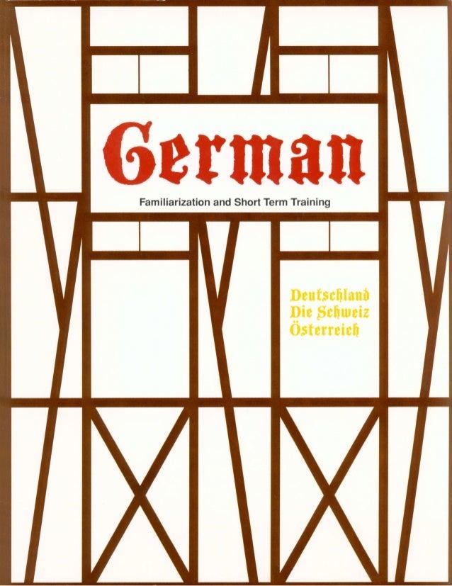 Learn German - FSI FAST Course