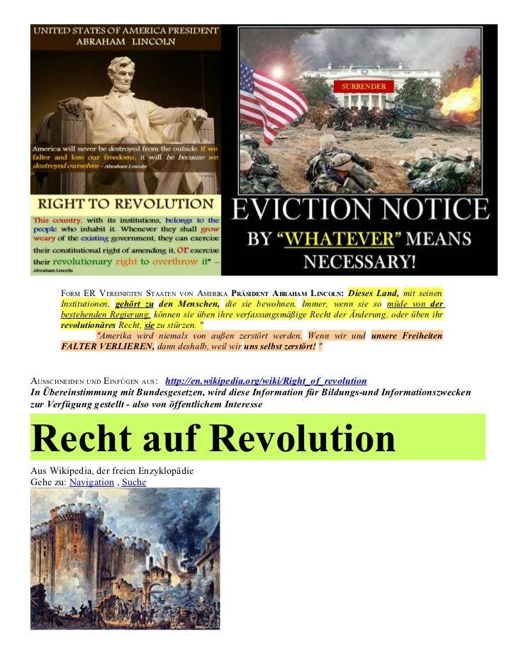 German   Right of REVOLUTION & Political CORRUPTION