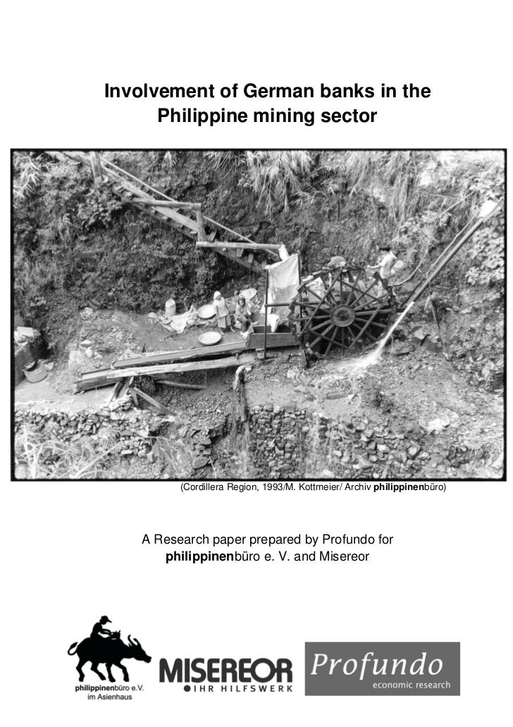 Involvement of German Banks in The Philippine Mining Sector