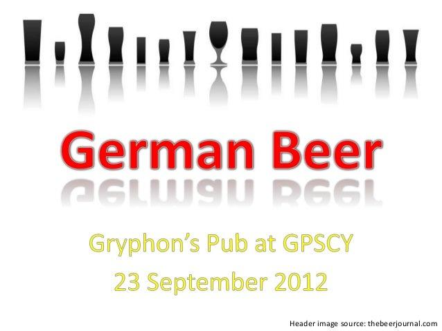 German beer 2012