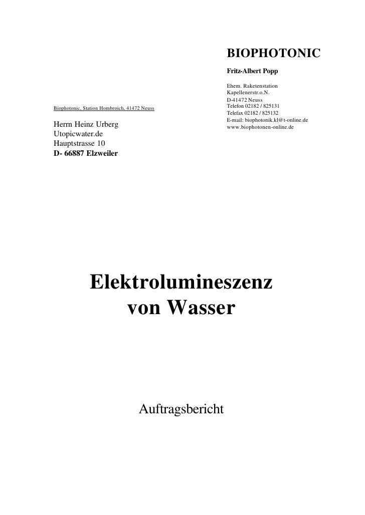 BIOPHOTONIC                                                       Fritz-Albert Popp                                       ...