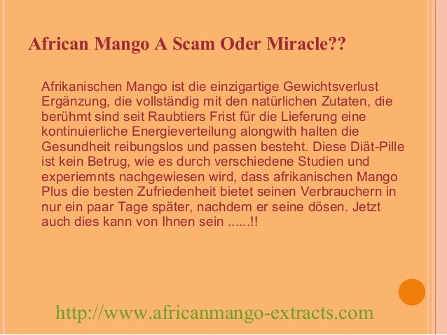 African Mango: A Scam Oder Miracle
