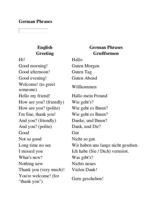 Response To Good Morning In German : German phrases