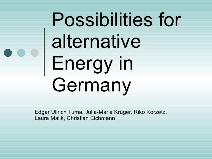 German Presentation About Energy