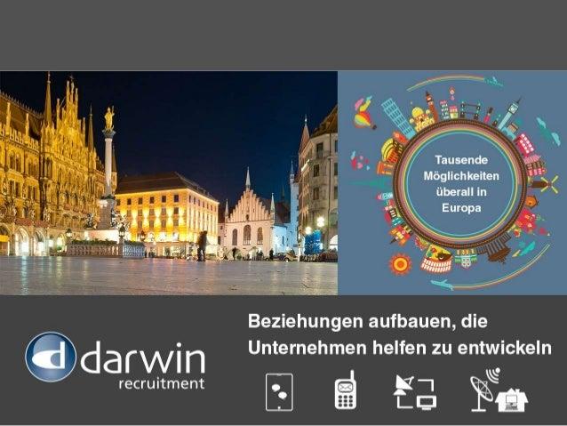 Über Darwin Recruitment Wir sind einer von Europas am schnellsten wachsenden Personalvermittlungsspezialisten auf diesem G...