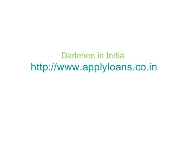 Darlehen in India http://www.applyloans.co.in