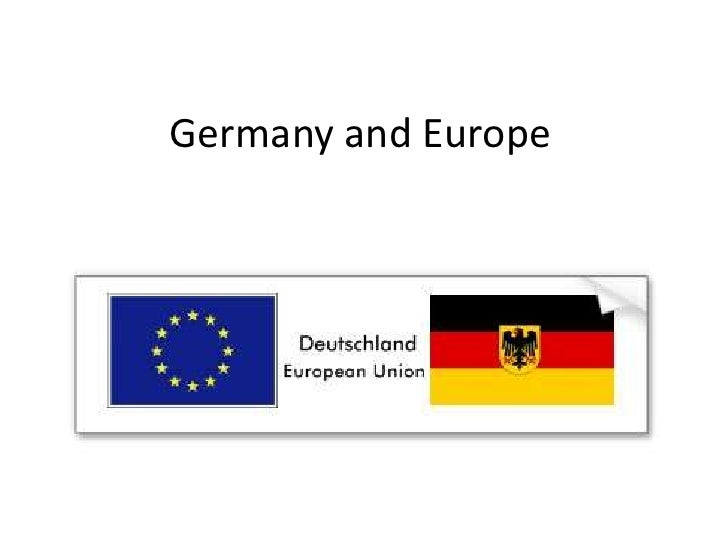 Germany and Europe<br />