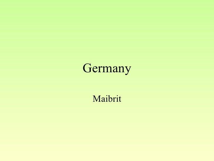 Germany Maibrit