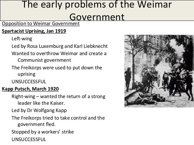 the flaws of the weimar republic The constitution of the german reich usually known as the weimar constitution  (weimarer  even without these real and/or perceived problems, the weimar  constitution was established and in force under disadvantageous social, political ,.
