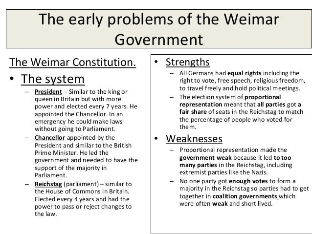 essay on weimar germany essay Thread: germany essay questions  although for weimar im just reading my  half year essay over and over, covers everything and got 20/20.