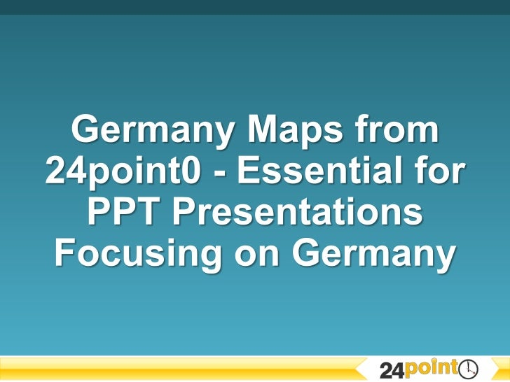 Germany Maps - Essential for PPT Presentations Focusing on Germany