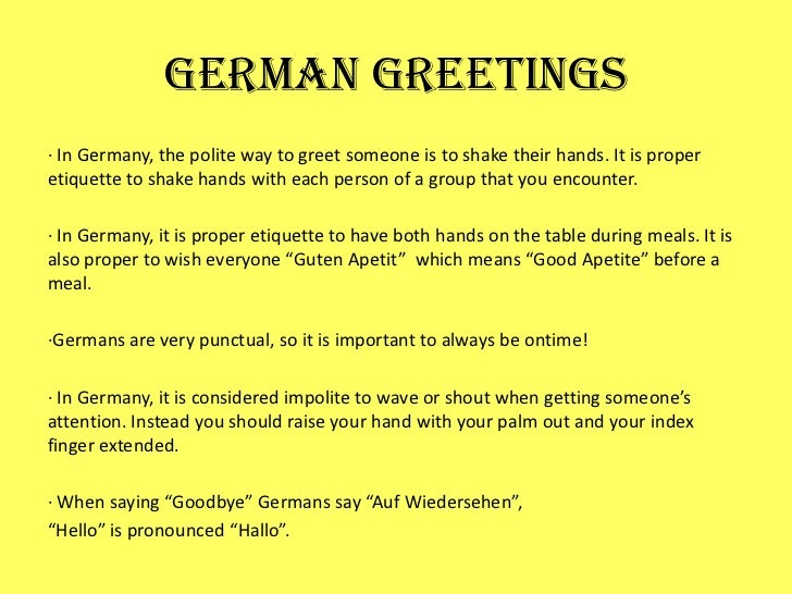 How to greet someone in german language ways to say hello in german how to greet someone in german language germany powerpoint m4hsunfo