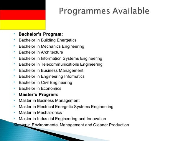Computer networking master thesis germany