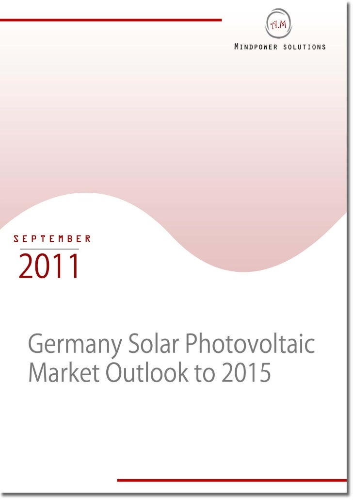 Germany Solar Photovoltaic Market Outlook to 2015