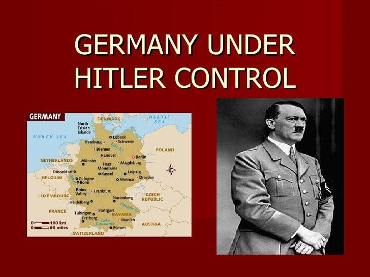 GERMANY UNDERHITLER CONTROL