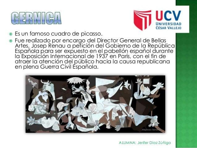    Es un famoso cuadro de picasso. Fue realizado por encargo del Director General de Bellas Artes, Josep Renau a petició...