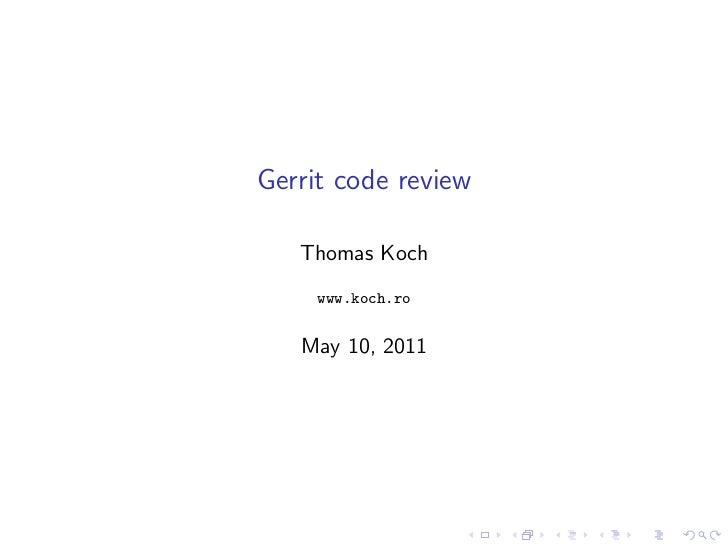 Gerrit linuxtag2011