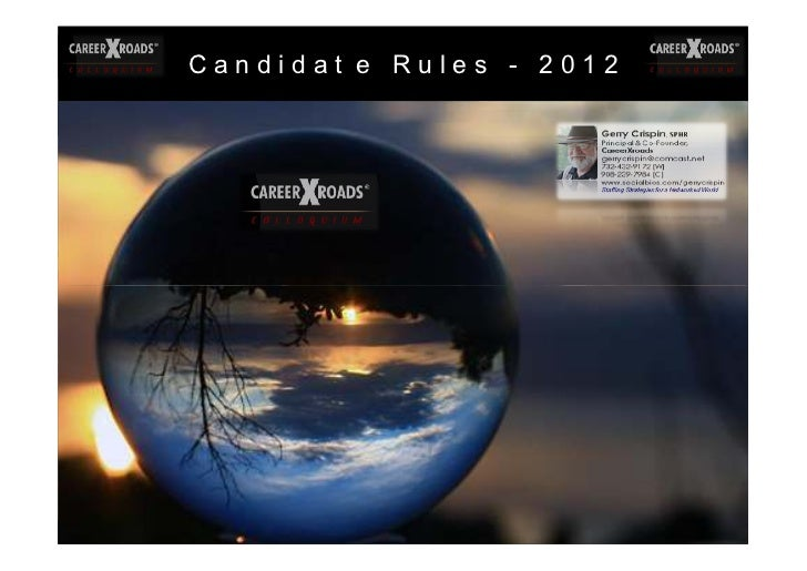 Gerry Crispin - Candidate Rules 2012