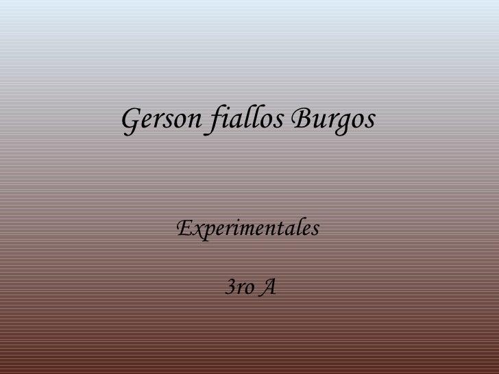 Gerson fiallos Burgos  Experimentales   3ro A