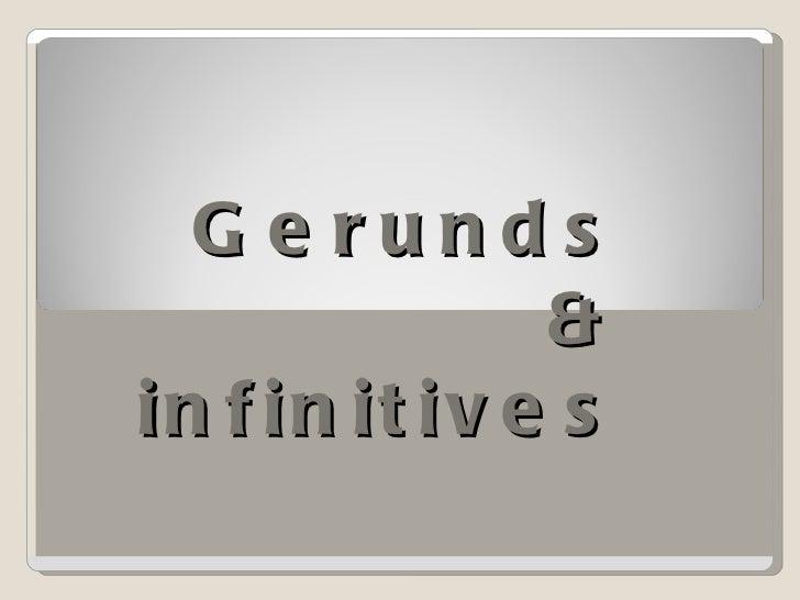 Gerund&infinitive