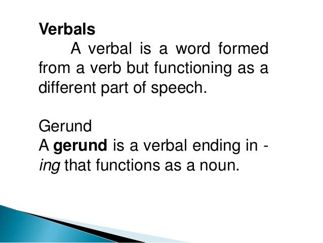 Gerundium Satz. Verbal...