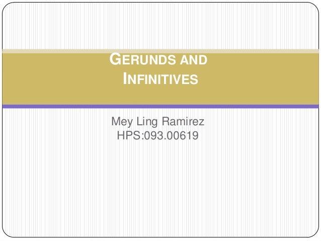 Gerunds and infinitives