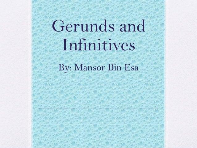 Gerundsandinfinitives