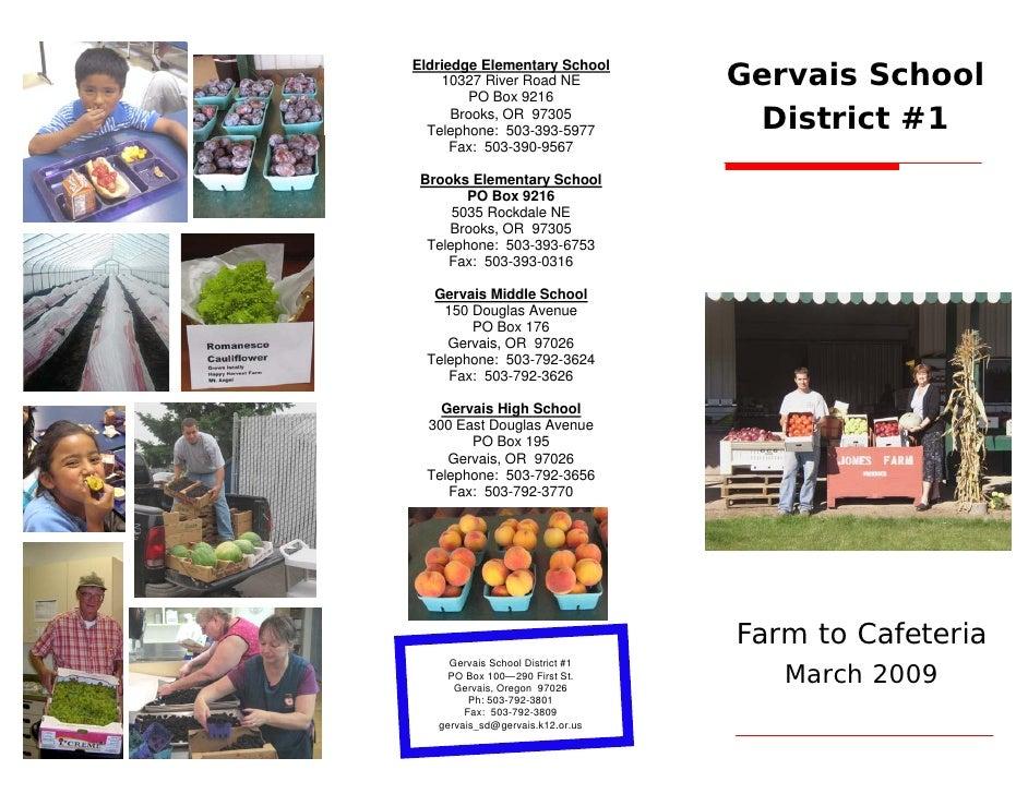 Gervais School District F2 C Brochure