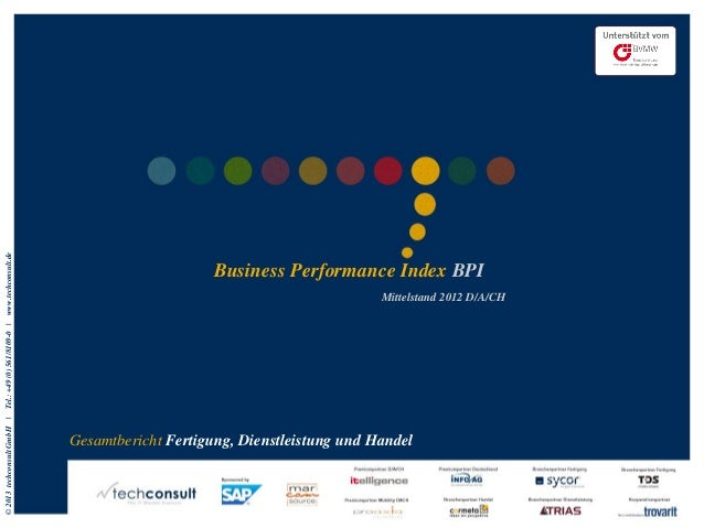 www.techconsult.de                                                  Business Performance Index BPI                        ...