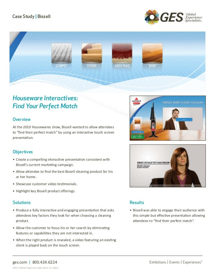 Case Study | BissellHouseware Interactives:Find Your Perfect MatchOverviewAt the 2010 Housewares show, Bissell wanted to a...