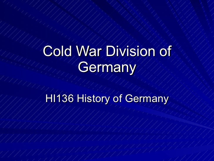 Geschiedenis   germany during the cold war