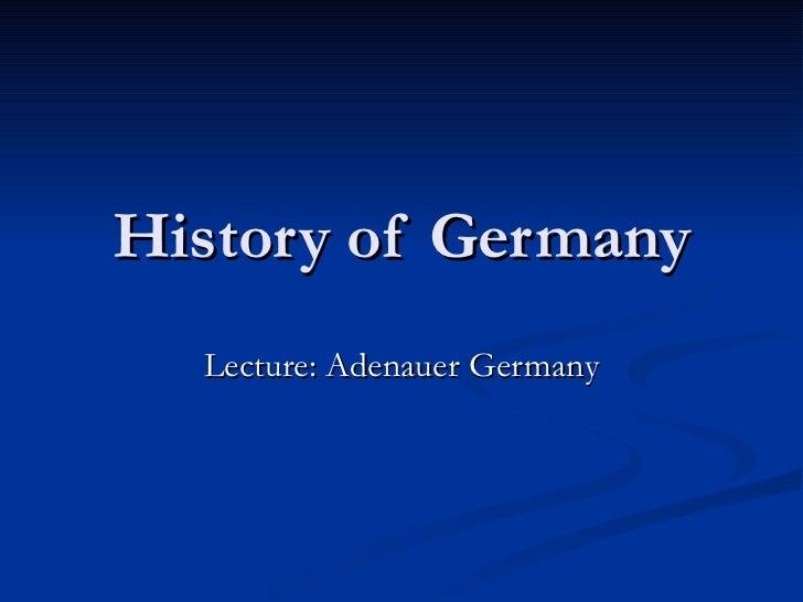 Geschiedenis   germany of adenauer