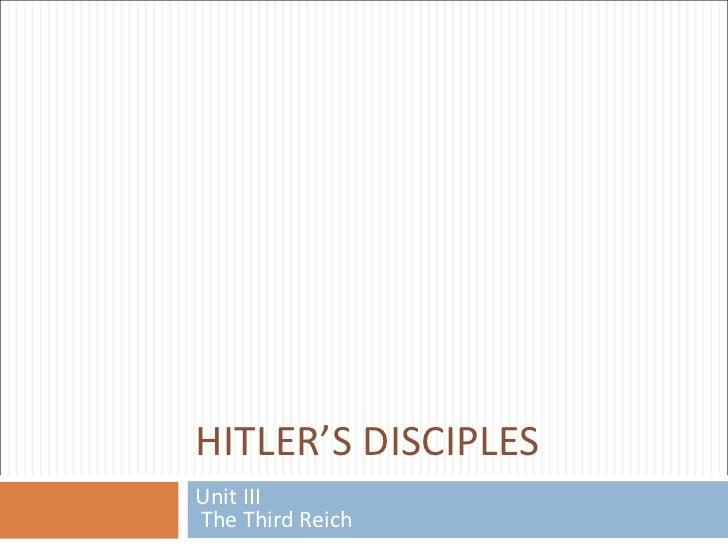 Hitlers - disciples - handlangers