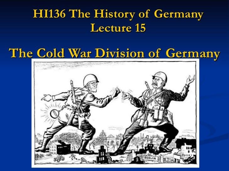 Geschiedenis   the cold war division of germany