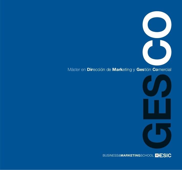 GES COMáster en Dirección de Marketing y Gestión Comercial