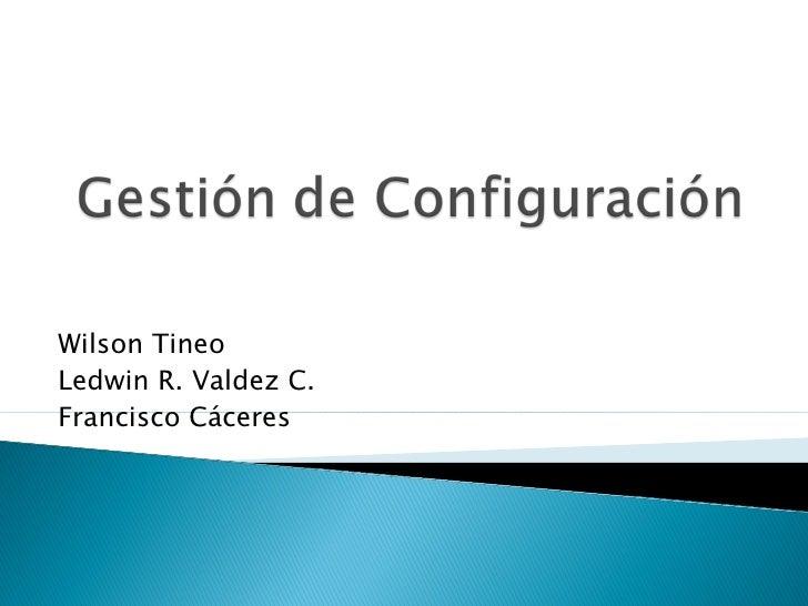 Wilson TineoLedwin R. Valdez C.Francisco Cáceres