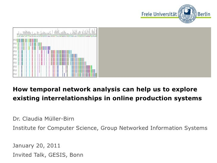 How temporal network analysis can help us to explore existing interrelationships in online production systems