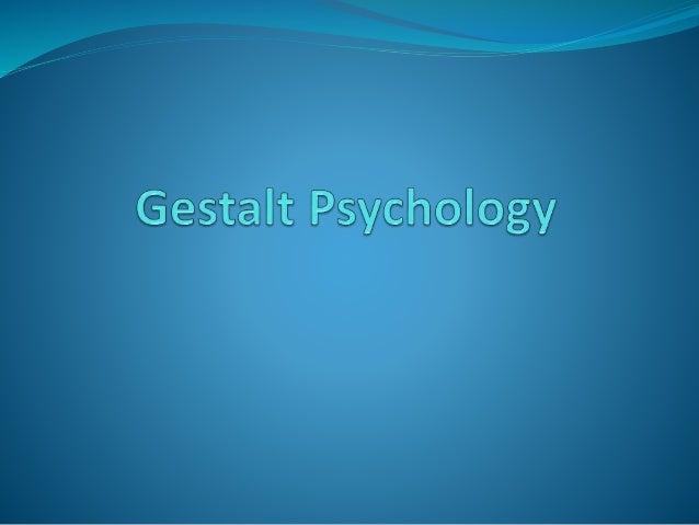 gestalt psychology slideshare