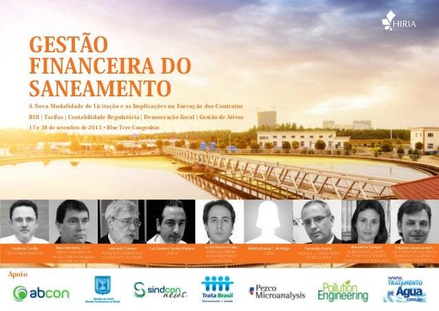 Hiria Gestão Financeira do Saneamento 2013
