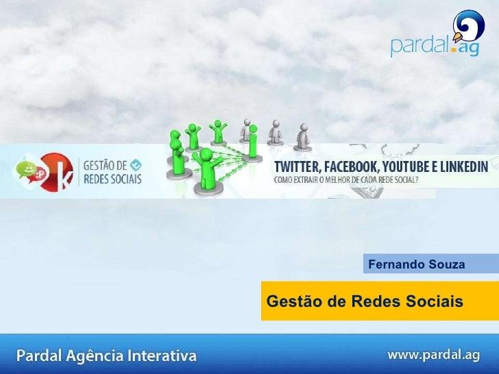 Gestão de Redes Sociais Fernando Souza