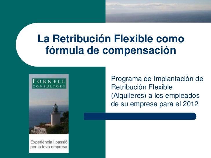 Gestió de la retribución flexible  2012 nuevo producto2