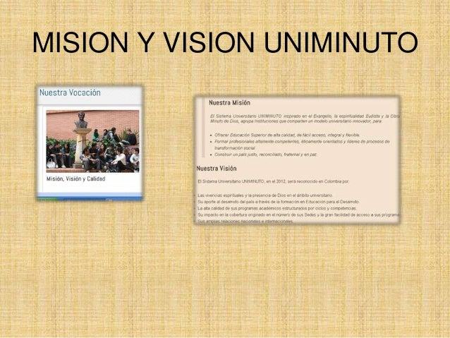 MISION Y VISION UNIMINUTO