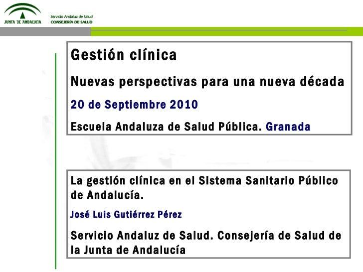 Gestión Clínica en el SSPA 20 09-10