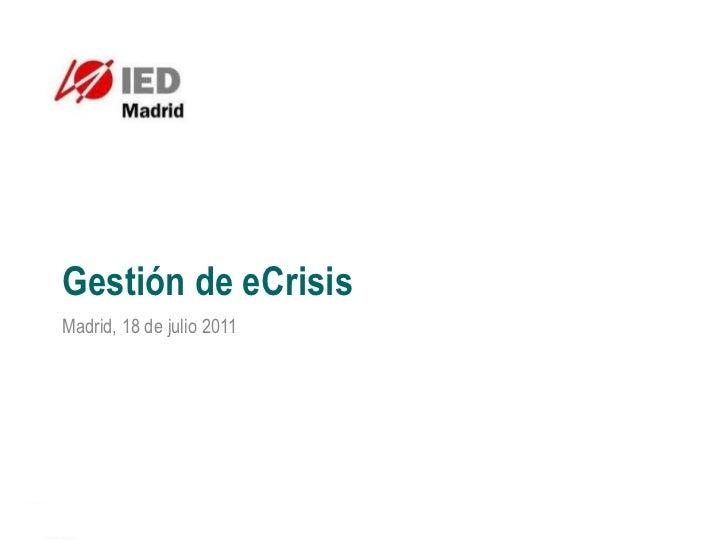 Clase Gestión crisis IED  Madrid