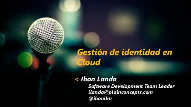 Gestión de identidad en Cloud