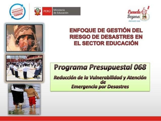 Gestión del Riesgo y Desastre Natural, por Aurora Zegarra,directora del DIECA (Minedu)