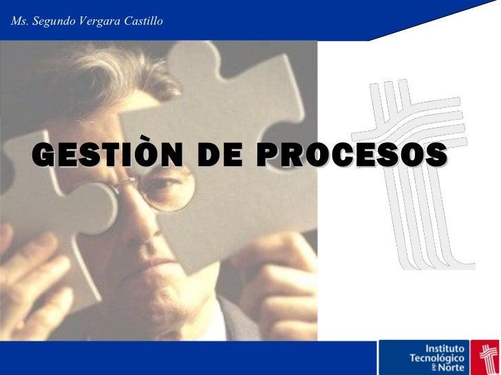 Gestiòn de procesos